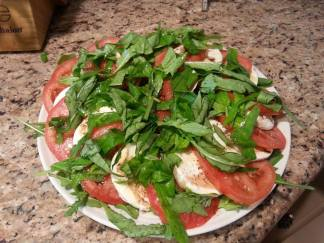 caprese salad finished 2