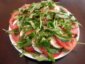 caprese salad finished