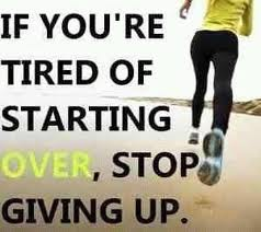 never giving up!