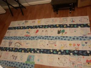 quilt being finished