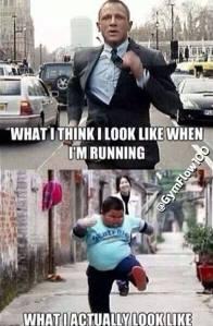 look like running